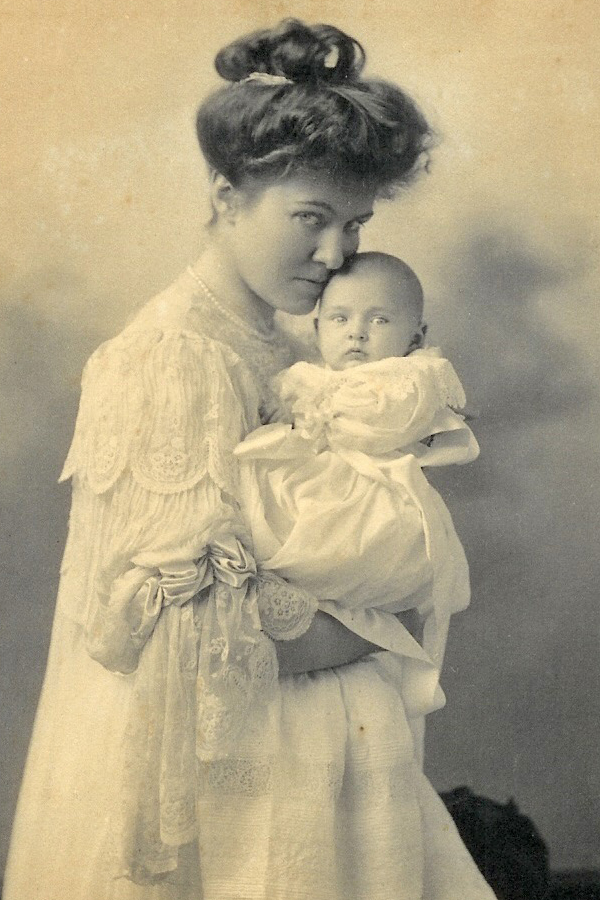 Edith Eustis with Infant