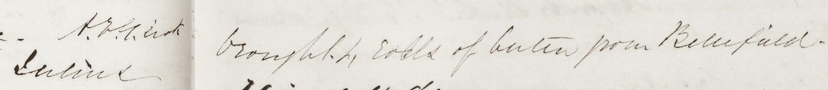Julius brought 4 rolls of butter from Bellefield. 6 April 1861