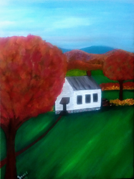 """""""Mountain Gap Colored School"""" by Gertrude Evans"""
